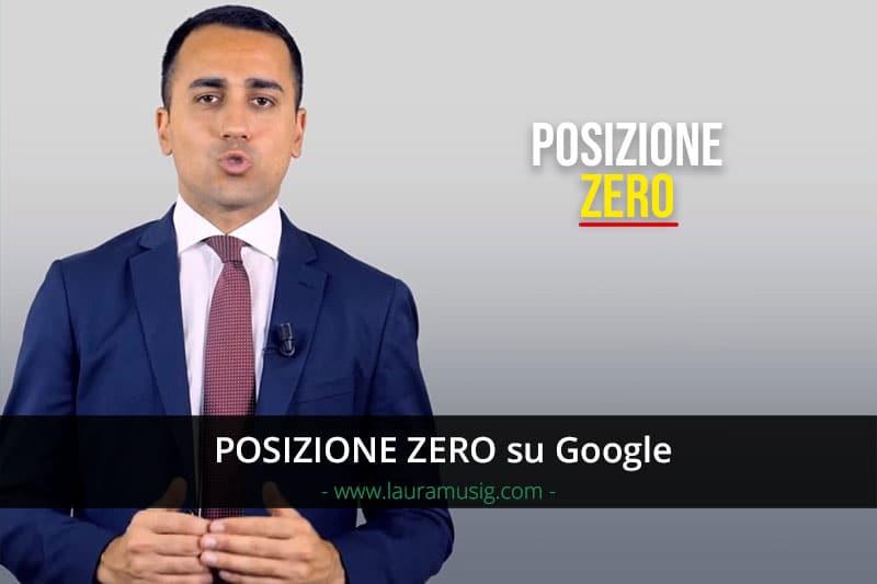 Posizione Zero Google Featured Snippet