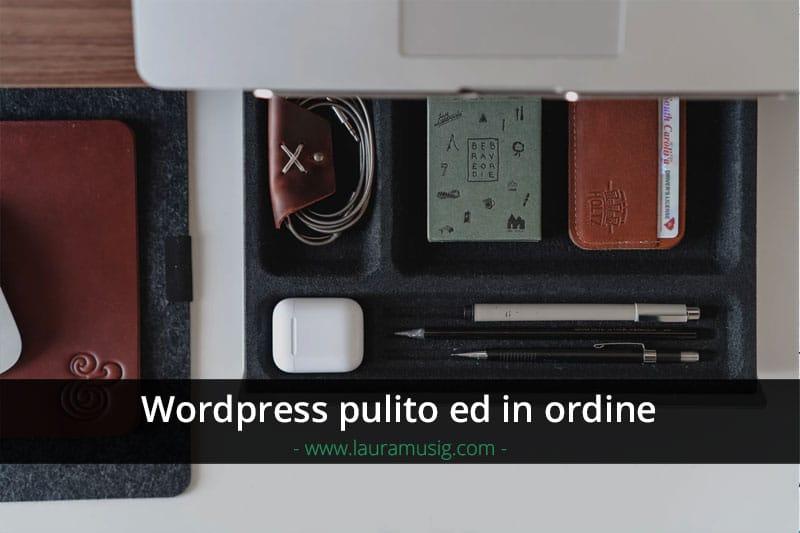 wordpress-pulizia